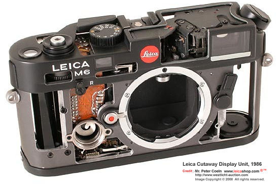 Visual Library on a few Leica M6 Cutaway Display Units - Index Page