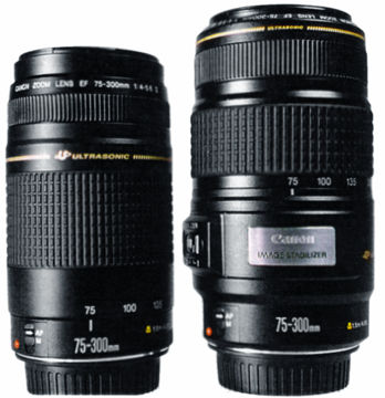 The IS (Image Stabilizer) version (1995) of the Canon EF 75-300mm ...